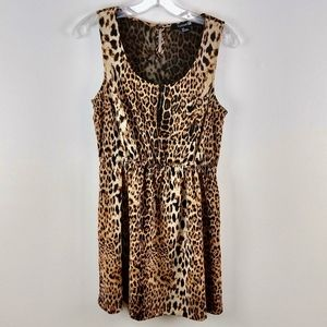 Forever 21 Leopard Print Mini Dress Small
